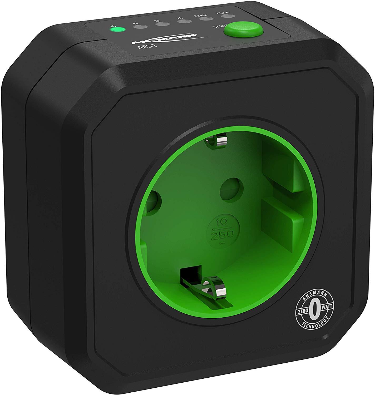 ANSMANN AES1 prise électrique avec minuterie / Prise économe en énergie avec minuterie pour appareils ménagers : radiateur...